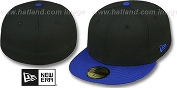 New Era 2T 59FIFTY-BLANK Black-Royal Fitted Hat