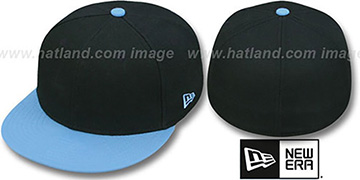 New Era 2T 59FIFTY-BLANK Black-Sky Fitted Hat