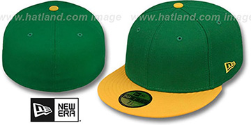 New Era '2T 59FIFTY-BLANK' Green-Gold Fitted Hat