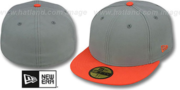 New Era 2T 59FIFTY-BLANK Grey-Orange Fitted Hat