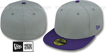 New Era 2T 59FIFTY-BLANK Grey-Purple Fitted Hat