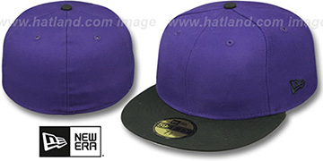 New Era '2T 59FIFTY-BLANK' Purple-Black Fitted Hat