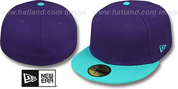 New Era '2T 59FIFTY-BLANK' Purple-Teal Fitted Hat