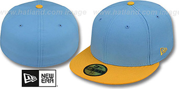 New Era 2T 59FIFTY-BLANK Sky-Gold Fitted Hat