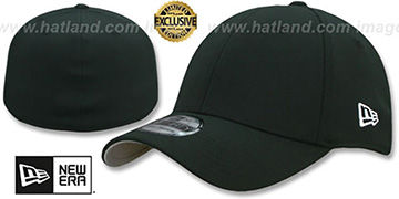 New Era '39THIRTY-BLANK' Black Flex Fitted Hat