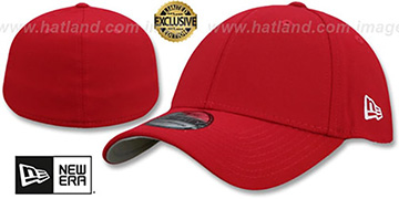 New Era 39THIRTY-BLANK Red Flex Fitted Hat
