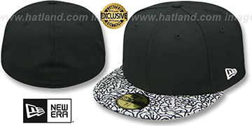 New Era '59FIFTY-BLANK' Black-Grey Elephant Fitted Hat