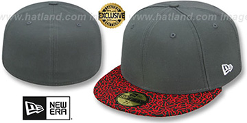 New Era '59FIFTY-BLANK' Charcoal-Red Elephant Fitted Hat