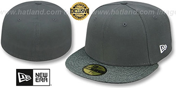 New Era '59FIFTY-BLANK' Charcoal-Grey Shadow Tech Fitted Hat