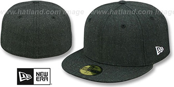 New Era 59FIFTY-BLANK Heather Black Fitted Hat