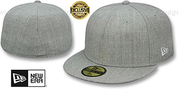 New Era '59FIFTY-BLANK' Heather Light Grey Fitted Hat