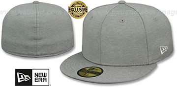 New Era '59FIFTY-BLANK' Light Grey Shadow Tech Fitted Hat