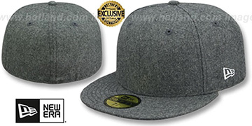 New Era '59FIFTY-BLANK' Melton Grey Fitted Hat