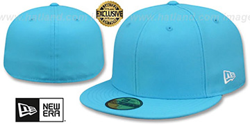 New Era 59FIFTY-BLANK Neon Blue Fitted Hat