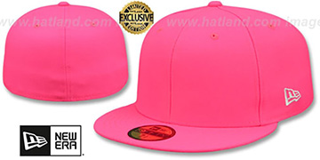 New Era '59FIFTY-BLANK' Neon Pink Fitted Hat