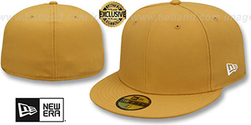 New Era 59FIFTY-BLANK Panama Tan Fitted Hat