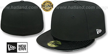 New Era '59FIFTY-BLANK PATENT VIZA' Black Fitted Hat