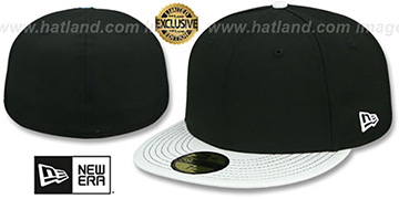 New Era 59FIFTY-BLANK PATENT VIZA Black-White Fitted Hat