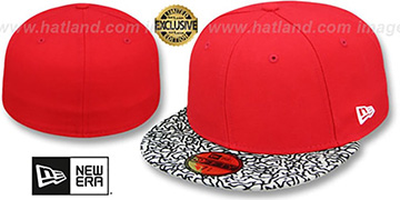 New Era '59FIFTY-BLANK' Red-Grey Elephant Fitted Hat