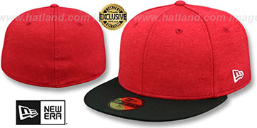 New Era '59FIFTY-BLANK' Red Shadow Tech-Black Fitted Hat