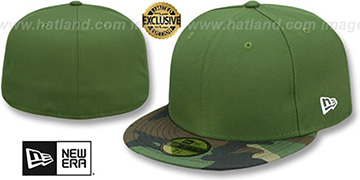 New Era 59FIFTY-BLANK Rifle Green-Army Camo Fitted Hat