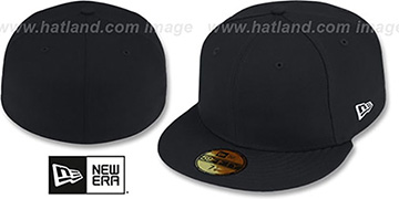 New Era 59FIFTY-BLANK Solid Black Fitted Hat