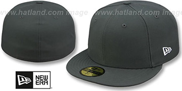 New Era '59FIFTY-BLANK' Solid Charcoal Grey Fitted Hat
