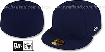 New Era '59FIFTY-BLANK' Dark Navy Fitted Hat