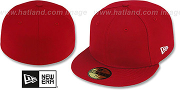 New Era '59FIFTY-BLANK' Solid Red Fitted Hat