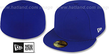New Era '59FIFTY-BLANK' Solid Royal Fitted Hat