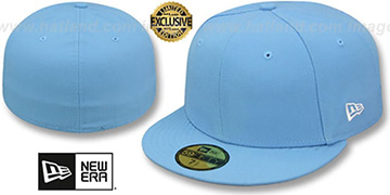New Era 59FIFTY-BLANK Solid Sky Fitted Hat