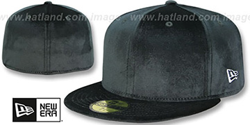 New Era '59FIFTY-BLANK VELOUR' Black Fitted Hat