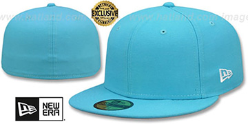 New Era '59FIFTY-BLANK' Vice Blue Fitted Hat