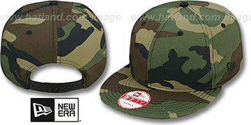 New Era BLANK SNAPBACK Army Camo Adjustable Hat