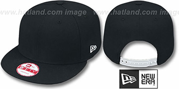 New Era BLANK SNAPBACK Black Adjustable Hat