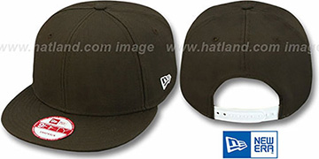 New Era BLANK SNAPBACK Brown Adjustable Hat