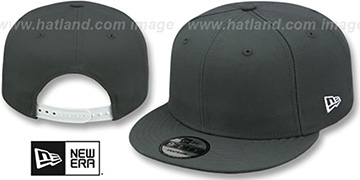 New Era BLANK SNAPBACK Charcoal Grey Adjustable Hat