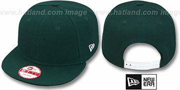 New Era 'BLANK SNAPBACK' Dark Green Adjustable Hat