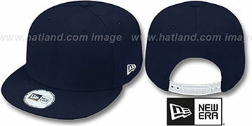 New Era BLANK SNAPBACK Dark Navy Adjustable Hat