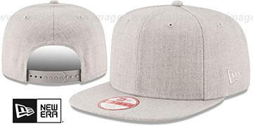 New Era 'BLANK SNAPBACK' Heather Grey Adjustable Hat