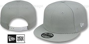 New Era 'BLANK SNAPBACK' Light Grey Adjustable Hat