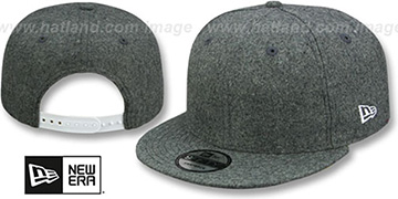 New Era 'BLANK SNAPBACK' Melton Grey Adjustable Hat