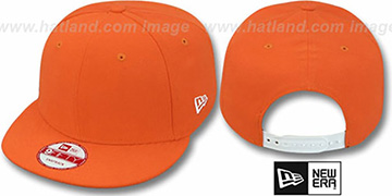 New Era BLANK SNAPBACK Orange Adjustable Hat