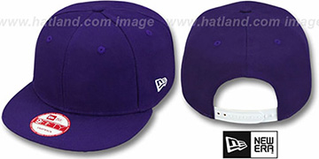 New Era 'BLANK SNAPBACK' Purple Adjustable Hat