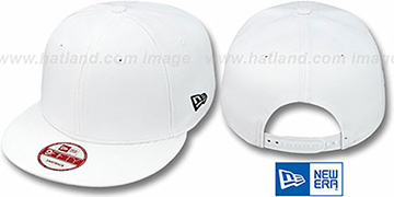 New Era 'BLANK SNAPBACK' White Adjustable Hat