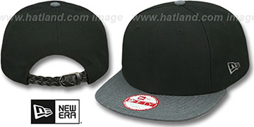 New Era 'BLANK STRAPBACK' Black-Charcoal Adjustable Hat