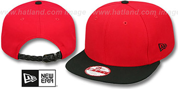 New Era 'BLANK STRAPBACK' Red-Black Adjustable Hat