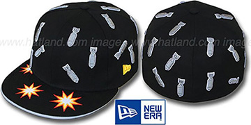 New Era 'BOMBS AWAY' Black Fitted Hat