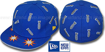 New Era 'BOMBS AWAY' Blue Fitted Hat