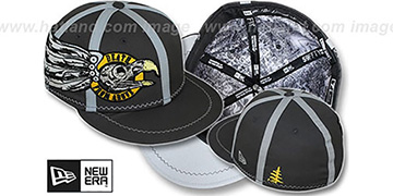 New Era 'DEATH FROM ABOVE' Grey Fitted Hat